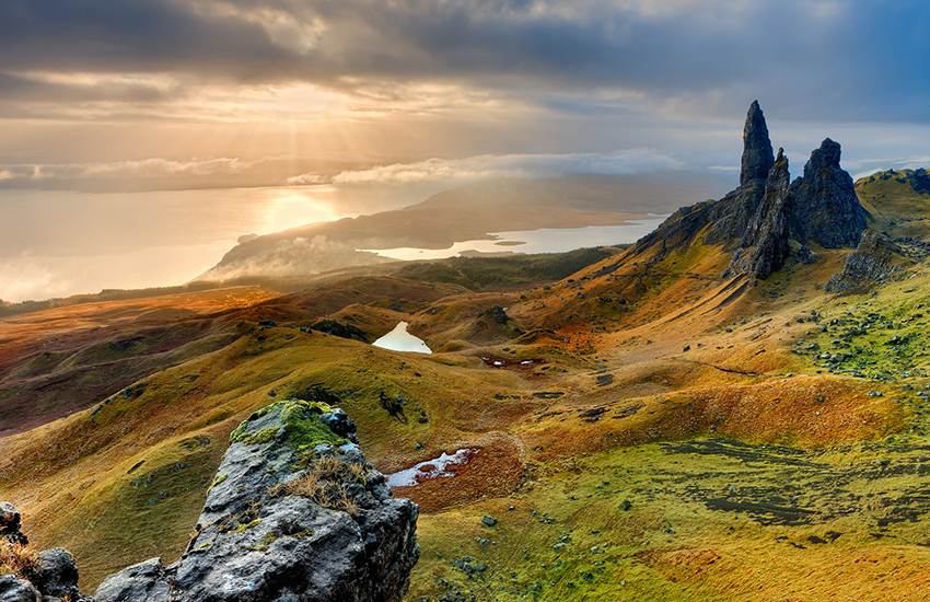 The remote but stunning Highlands of Scotland.