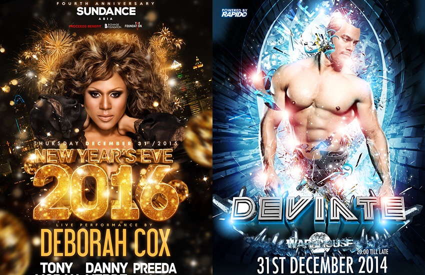 Why not spend New Year's Eve 2015 at a party in Bangkok [left] or Amsterdam [right]?