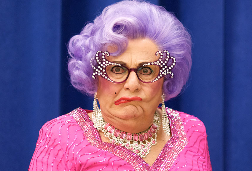 Dame Edna Everage calls trans women 'mutilated men'