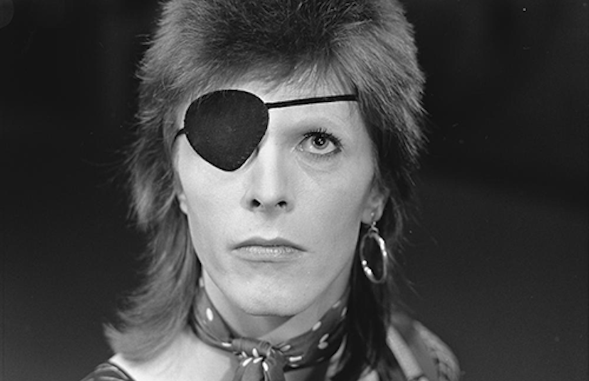 David Bowie as his androgynous alter ego, Ziggy Stardust, in 1974.
