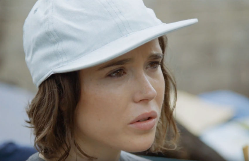 Ellen Page described the encounter as described the encounter as 'probably one of the more scary, nerve-wracking moments I've had.'