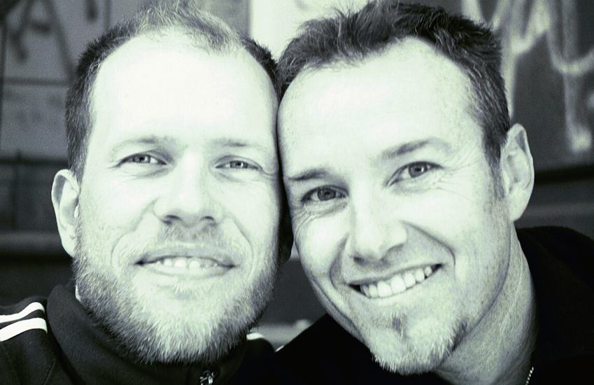 Michael Burge and his partner Jonathan Rosten.