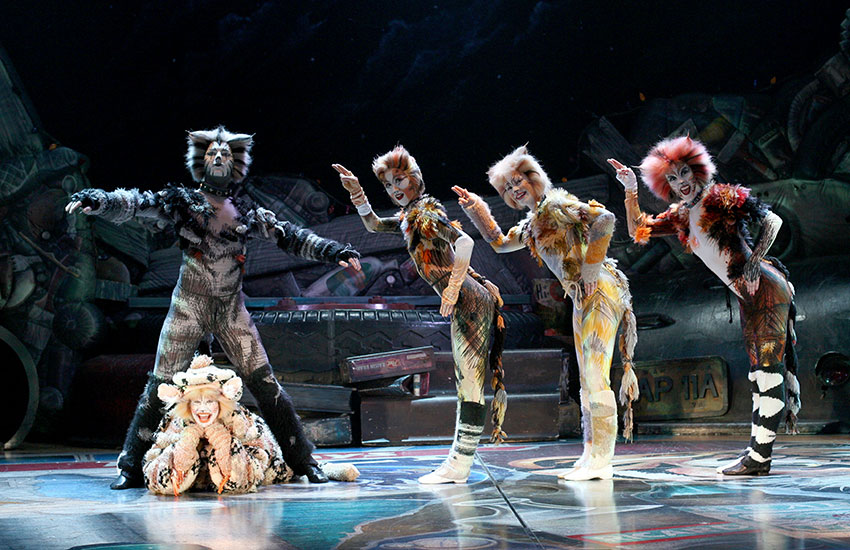 The cast of CATS in 2007 during its last US tour