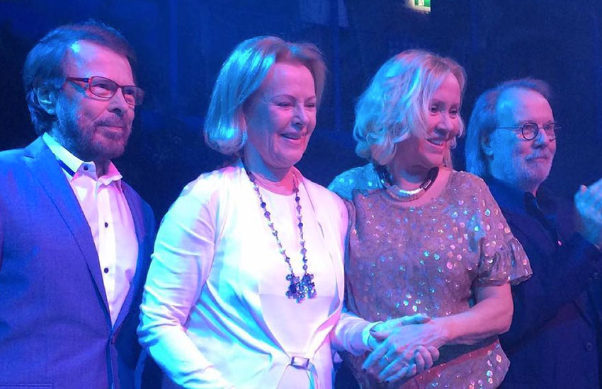 The members of ABBA have appeared in public together for the first time since 2008