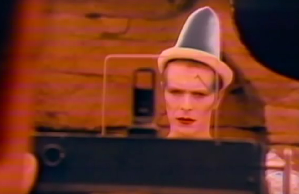 David Bowie in the video for 'Ashes to Ashes'
