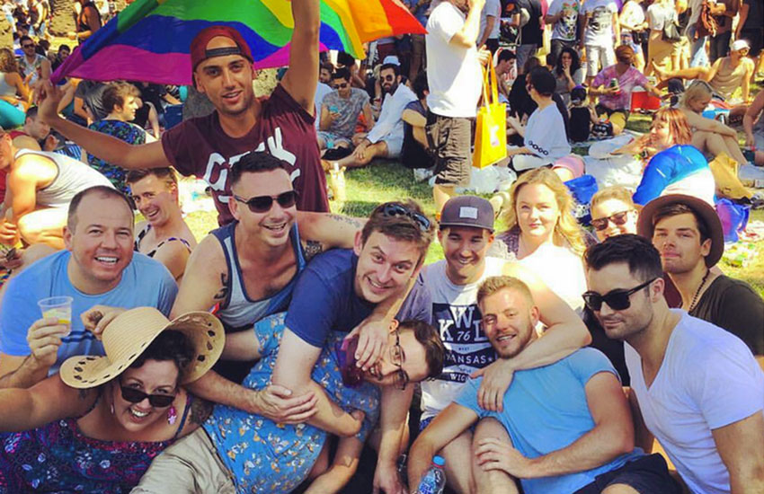 Revelers at the Midsumma Festival pose up a storm in Melbourne