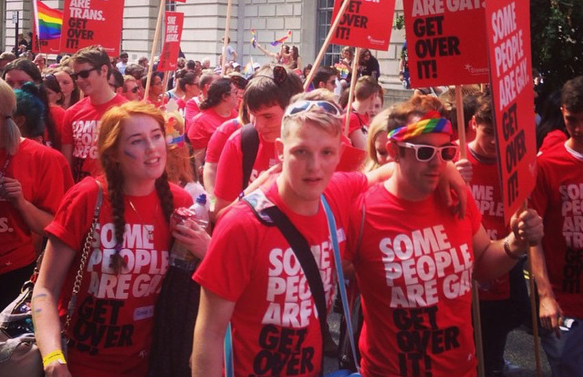Marchers at last year's Pride in London parade