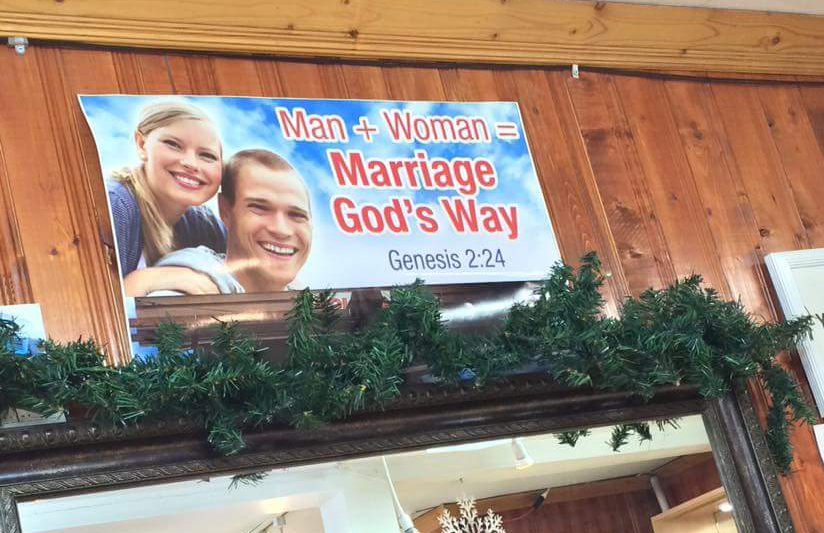 Would you want to buy a ring from a store displaying this sign?