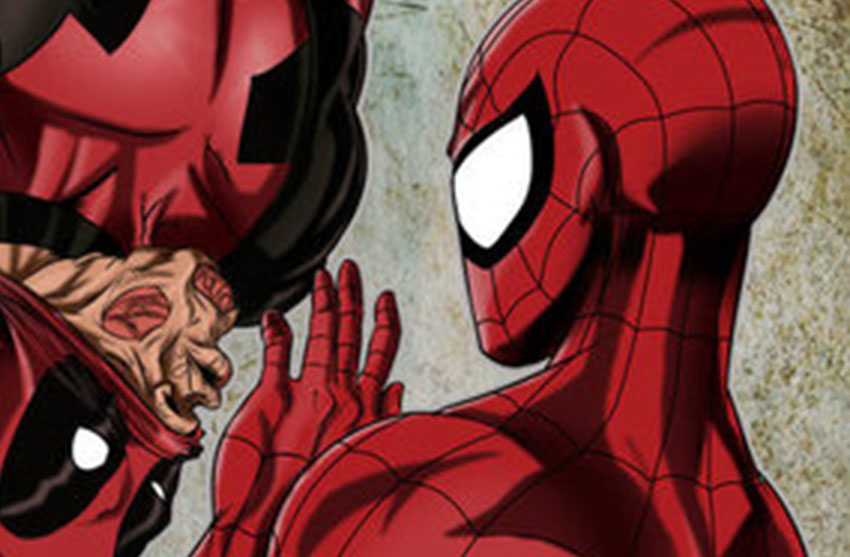 Deadpool and Spiderman are one hot pairing