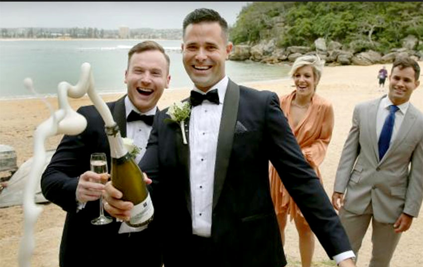 This same-sex couple found out a way of marrying in Australia