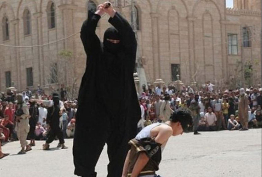 ISIS have beheaded many people, including this boy, for what they see as 'crimes'