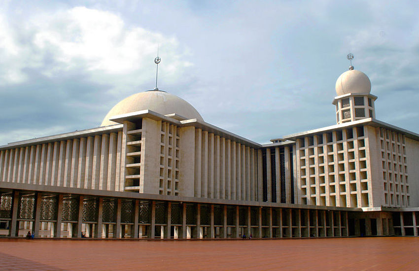 Istiqlal Mosque in Jakarta, the largest in Southeast Asia.