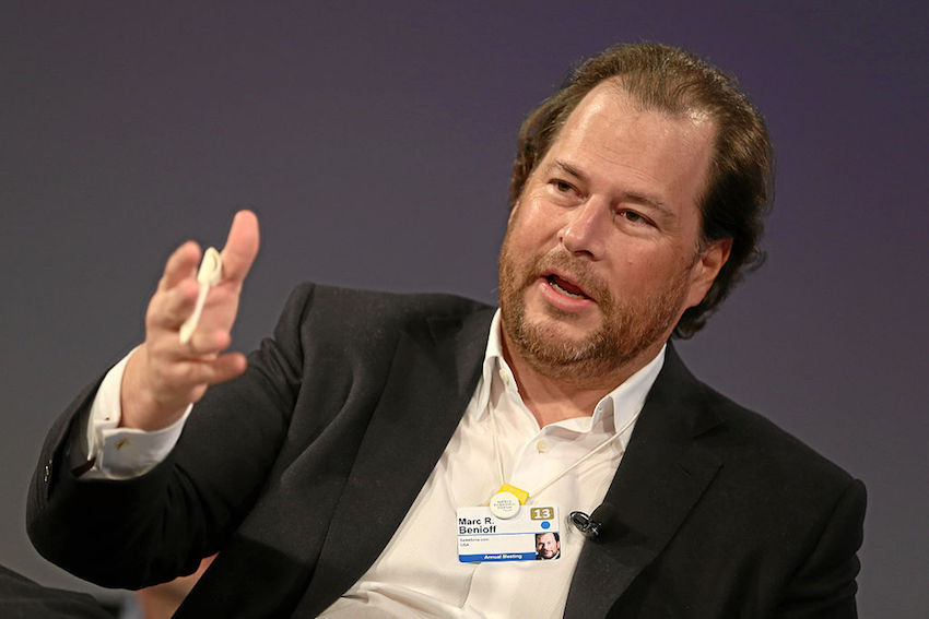 Marc Benioff at the World Economic Forum 2013.