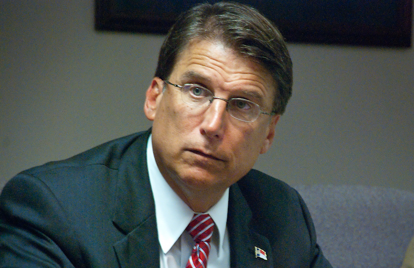 North Carolina Governor Pat McCrory has been in office since 2013
