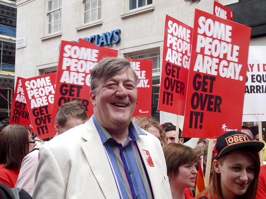 Stephen Fry at WorldPride 2012 in London.