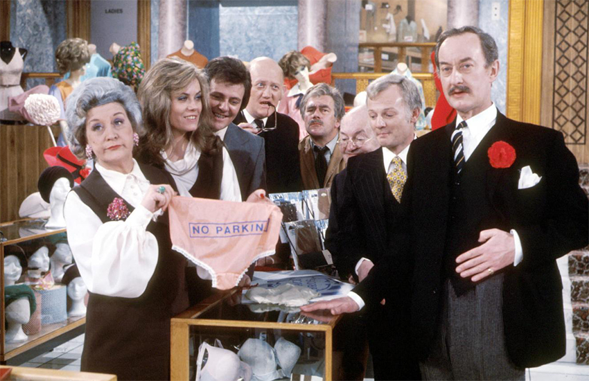 The original cast of BBC show Are You Being Served?