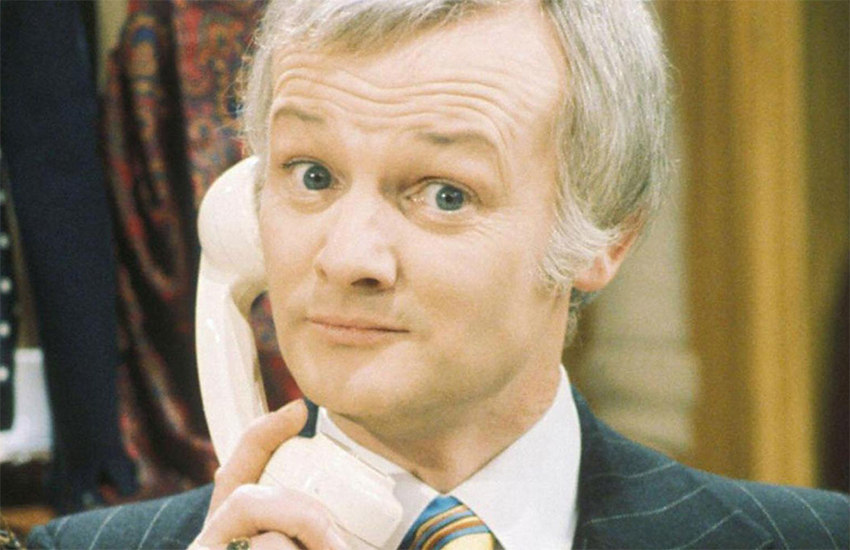 John Inman as Mr Humphries in the long-running sitcom Are You Being Served?