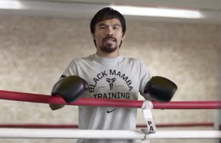 Manny Pacquiao in a 2014 commercial for Foot Locker
