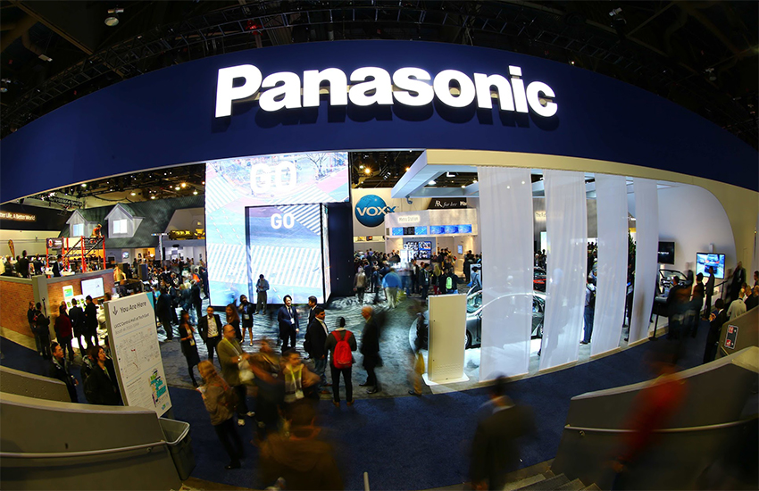 The Panasonic stand at the CES2016 show in Las Vegas in January