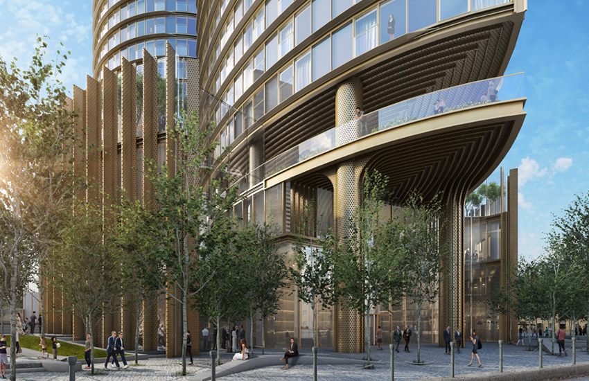 Hertsmere House is set to 'revitalize' the area around Canary Wharf's West India Quay.