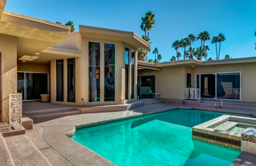 It may look like a classic Palm Springs home, but wait until you see inside.