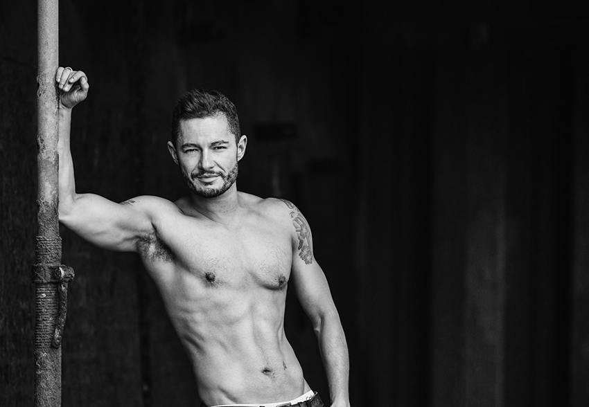 Trans model Jake Graf, photographed by Paul Grace.
