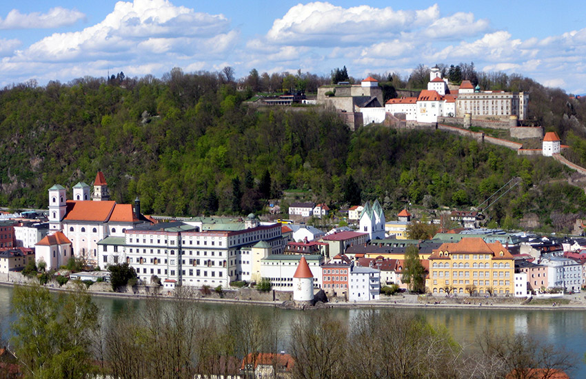 Passau in Germany, where the cruise departs