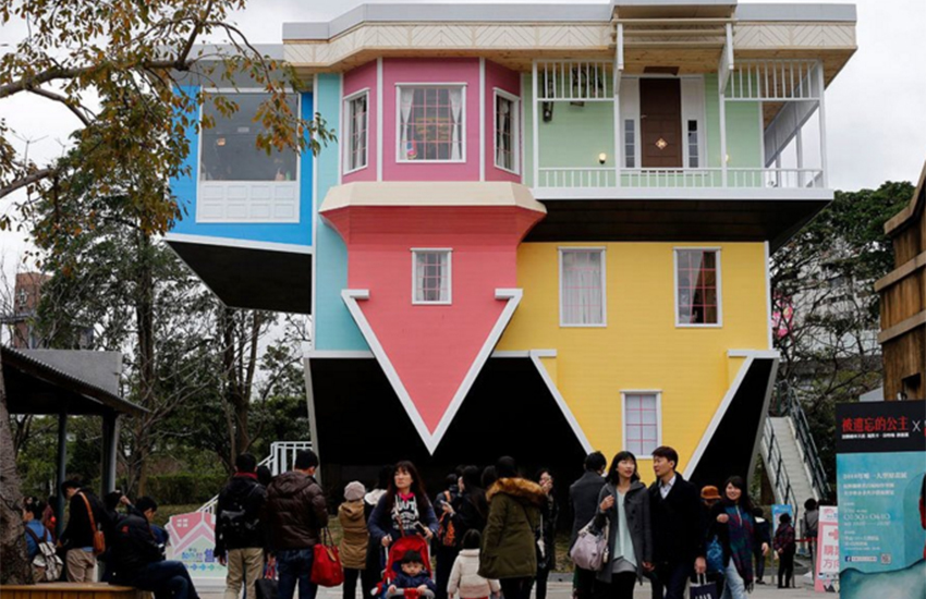 This colorful house in Taipei truly turns the world upside down.