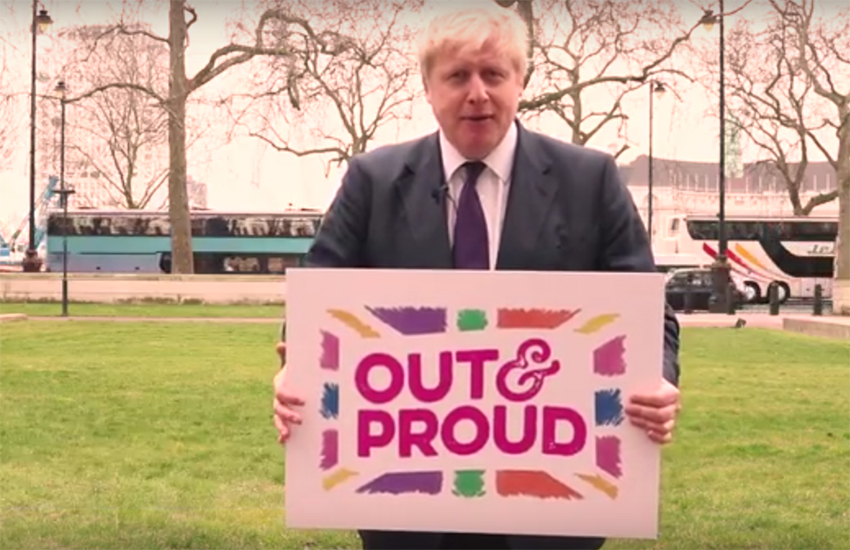London Mayor Boris Johnson has been seeking the support of LGBTI voters - despite his anti-gay views in the past.