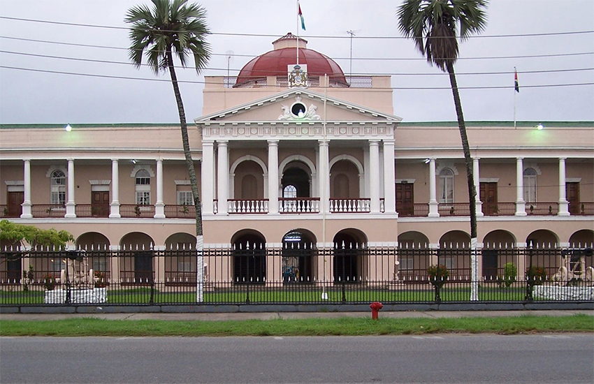 The Parliament building, Georgetown, Guyana