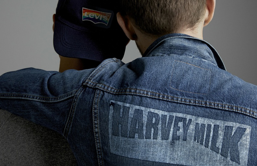 A denim jacket from the new Harvey Milk collection from Levi's