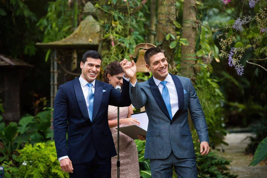 Gio Benitez and Tommy DiDario had a Florida wedding