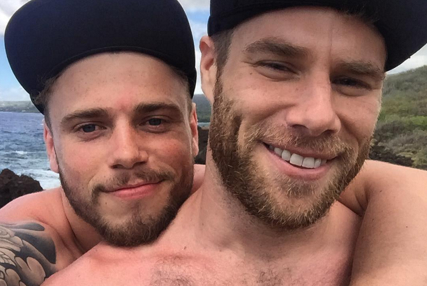 Gus Kenworthy and boyfriend Matthew Wilka get loved up in Hawaii