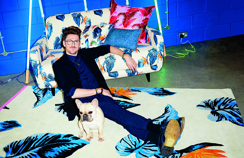 British fashion designer Henry Holland brought his colorful designs to Habitat for a new collection.