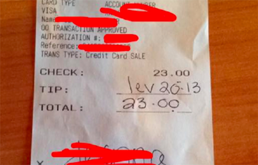 This gay waitress got a homophobic check