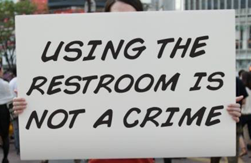 Using the restroom is not a crime