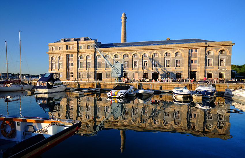 Royal William Yard Harbor in Plymouth