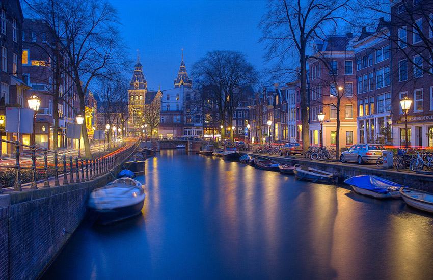 Amsterdam, the capital of the Netherlands