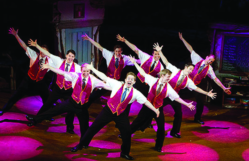 Pink sequins and tap dancing: the Book of Mormon's Elders go all out to Turn It Off.