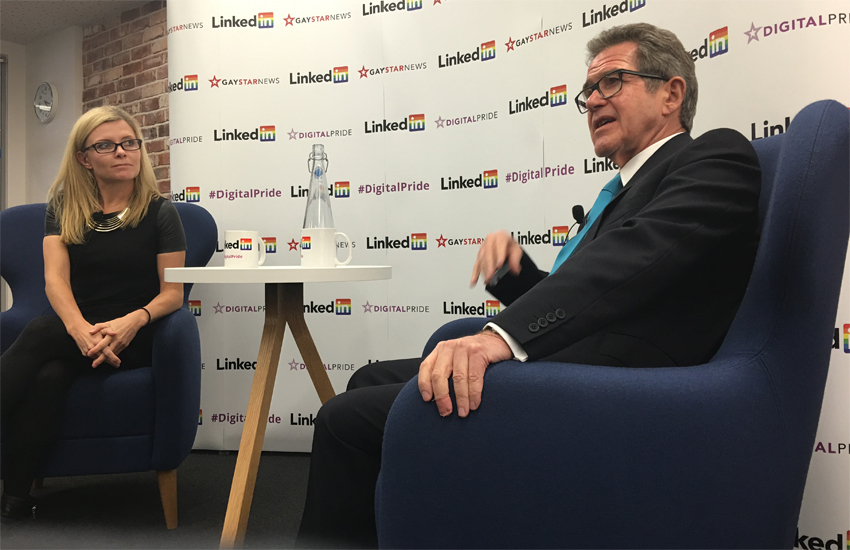 LinkedIn's Ngaire Moyes and Lord John Browne