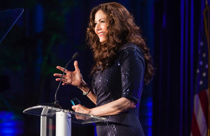 Wonder Woman actress and activist Lynda Carter addresses the 'Best of the Best' reception