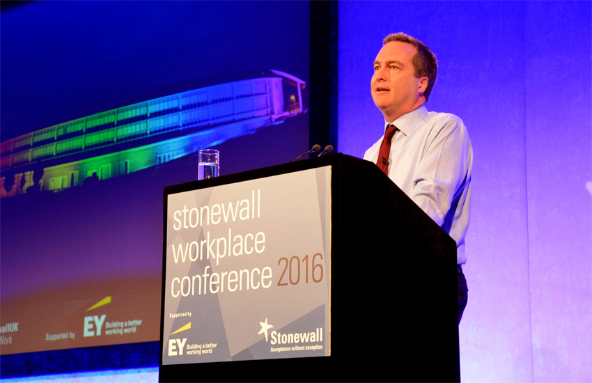 GCHQ Director Robert Hannigan addresses the Stonewall Workplace Conference