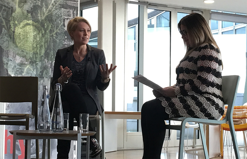 Vicky Beeching in conversation with Sharon Pegg of the Co-op