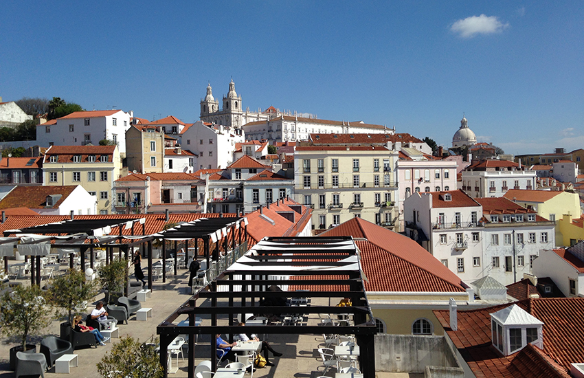 A view of Alfama, the oldest district of Lisbon
