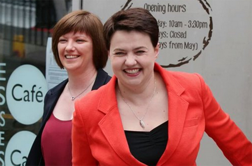 Ruth Davidson is gay and the leader of the Scottish Conservatives