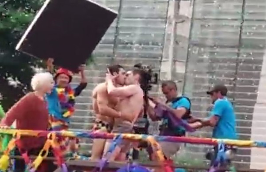 Sense8 cast members rode in San Paulo Pride parade