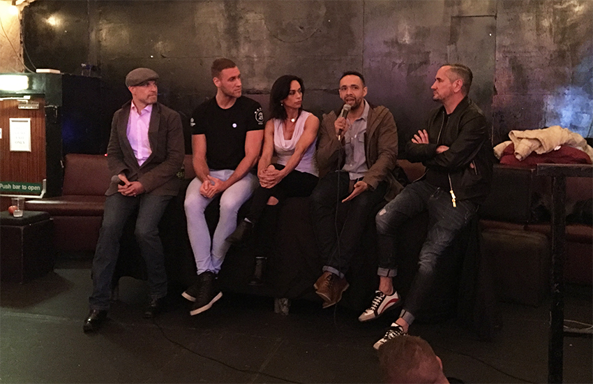 The Chemsex panel: Stewart Who?, Mitch Marrion, Michelle Thomber-Dunwell, Leon Lopez and Fat Tony