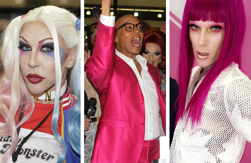 RuPaul (centre) brought Dragcon back to Los Angeles over the weekend