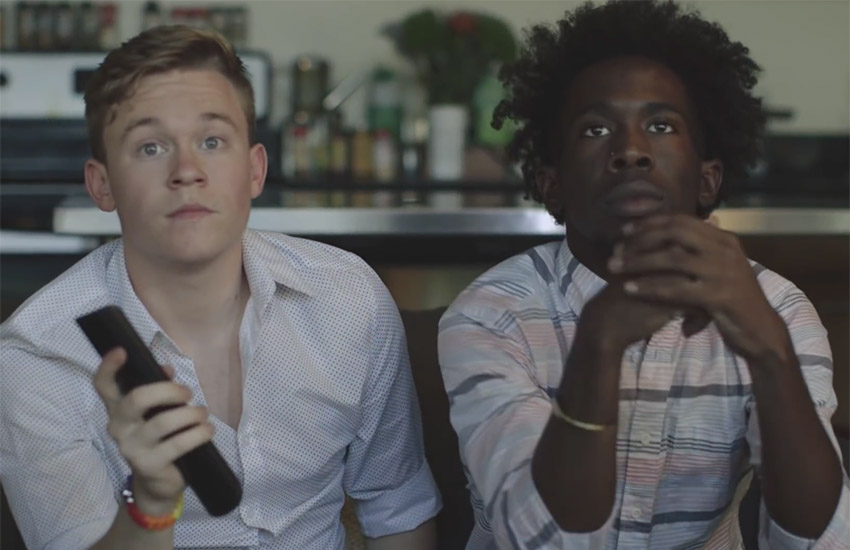 The video follows a young couple from their first meeting to the day of the SCOTUS' landmark ruling.