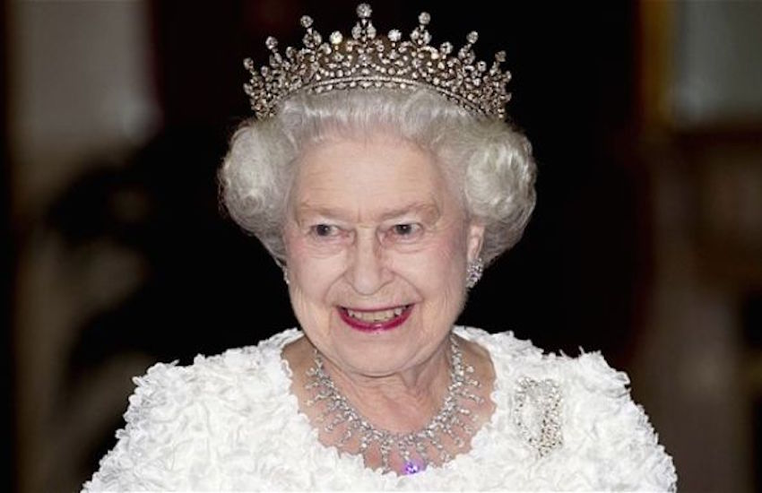 Today is the Queen's official birthday. Her actual birthday is April 21